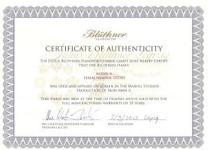 An authenticity certificate - Wouldn't it just be easier this way?