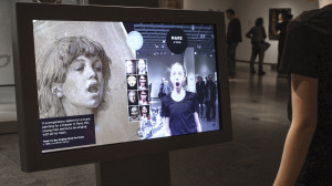 A digital kiosk at the Cleveland Museum of Art offers an interactive interface to their collection.